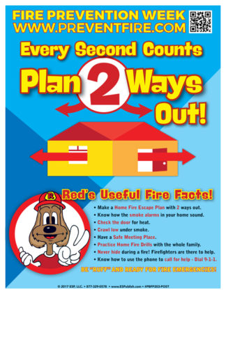 "Red's ""Every Second Counts - Plan 2 Ways Out!"" Poster"