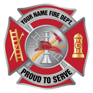 Custom Maltese Cross Sticker Badge