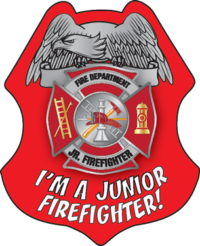I'm A Junior Firefighter Sticker Badge-0