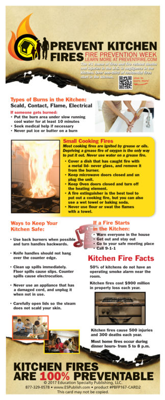 Prevent Fire Presentation Display