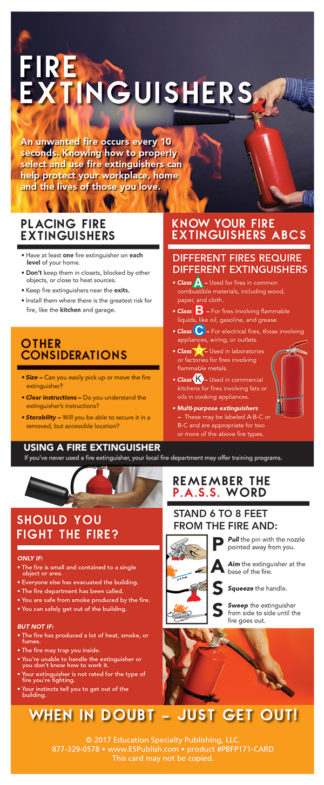 Fire Extinguishers Presentation Cards