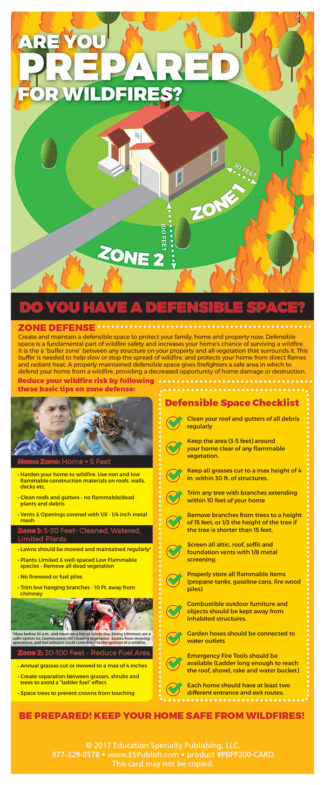 Defensible Space Presentation Card