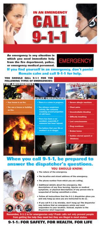 In an Emergency, Call 9-1-1 Presentation Card-0