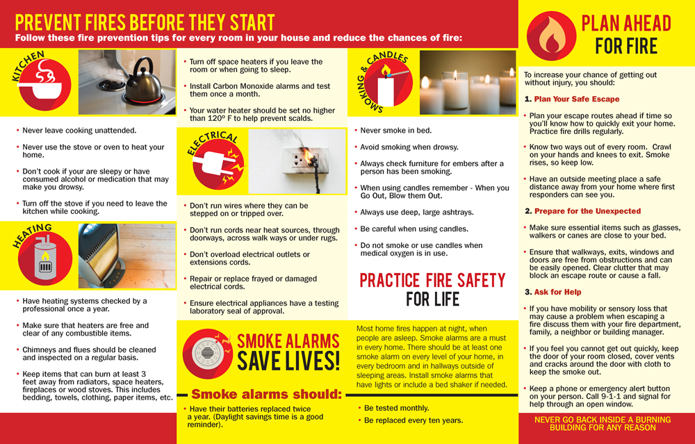 Fire Safety for Mature Adults Pamphlet | Fire Safety For Life