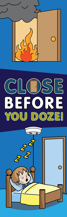 """Close Before You Doze"" Bookmark (front)"