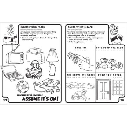 """Fire Ready Every Day with Firefighter Ace"" Activity Book - Primary (inside preview)"