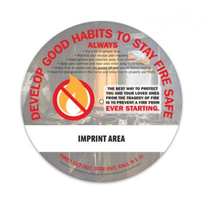 """Home Fire Safety: Douse Bad Habits"" Information Wheel (back)"