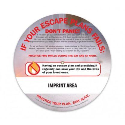 """""""Home Fires: A Safe Escape"""" Information Wheel (back)"""