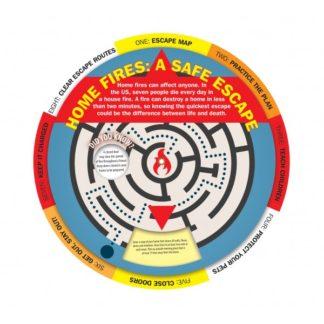 """Home Fires: A Safe Escape"" Information Wheel (front)"
