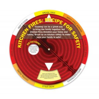 """Kitchen Fires: Recipe for Safety"" Information Wheel (front)"