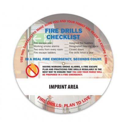 """Home Fire Drills: Practice Makes Perfect"" Information Wheel (back)"