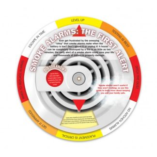 """Smoke Alarms: The First Alert"" Information Wheel (front)"