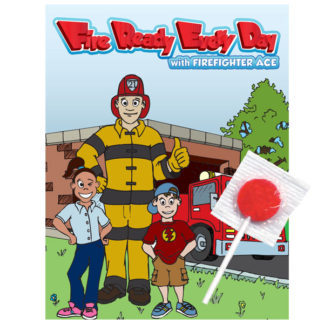 "Ace's ""Fire Ready Every Day!"" Lollipop Card (front)"