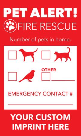 Pet Rescue Alert Sticker