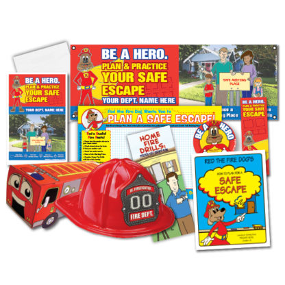 """Red's """"Be A Hero. Plan & Practice Your Safe Escape"""" Super StationPak"""
