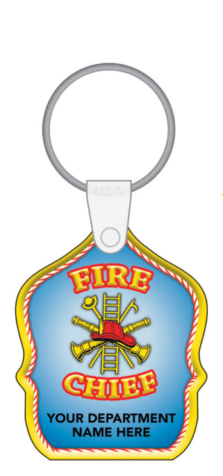 Custom Fire Chief Shield Key Tag