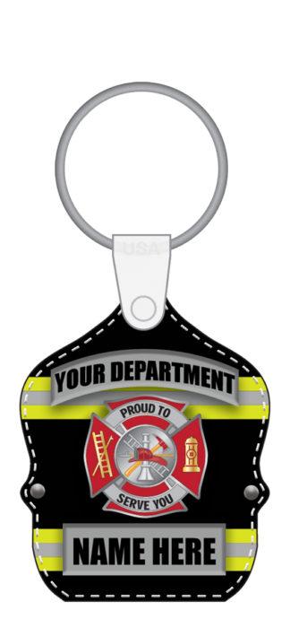 Custom Fire Dept. Shield Key Tag