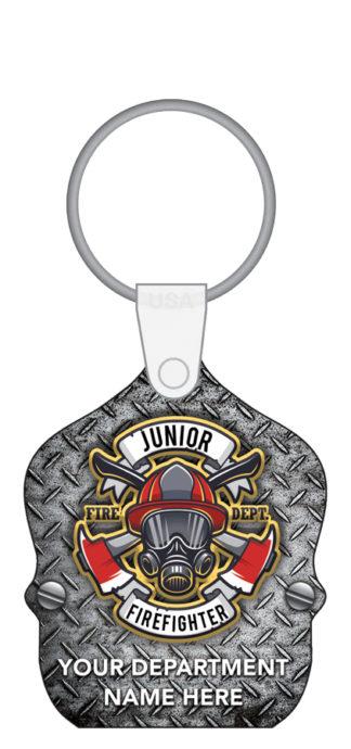 Custom Junior Firefighter Shield Key Tag
