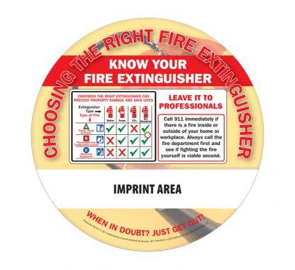 """Fire Extinguishers"" Information Wheel (back)"