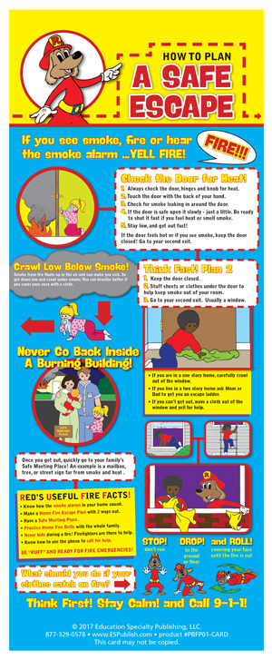 """Red's """"How to Plan a Safe Escape"""" Presentation Card"""