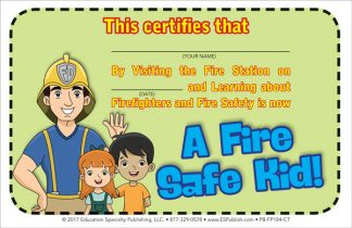 """I Visited the Fire Station"" Certificate"