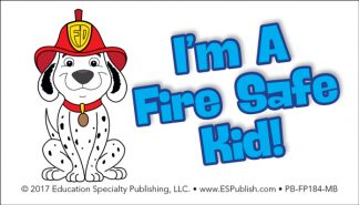 """I Visited the Fire Station"" Pledge Card (Front Side)"