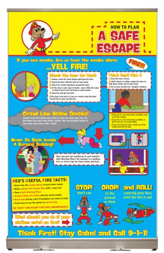 "Red's ""How to Plan a Safe Escape"" Tabletop Display"