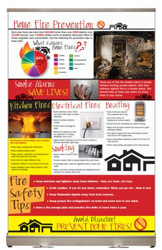 """Home Fire Prevention"" Tabletop Display"
