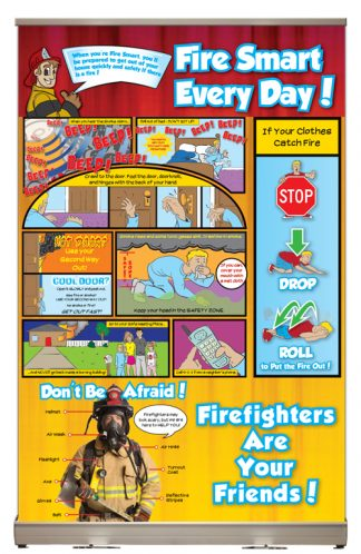 """Ace's """"Fire Smart Every Day!"""" Tabletop Display"""
