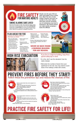 """Fire Safety for Mature Adults"" Tabletop Display"