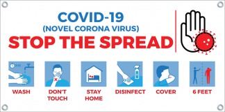 COVID-19: Stop the Spread Banner