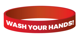 """Wash Your Hands"" Wristband"