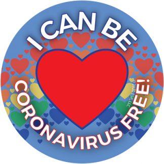 """I Can Be Coronavirus Free!"" Sticker"