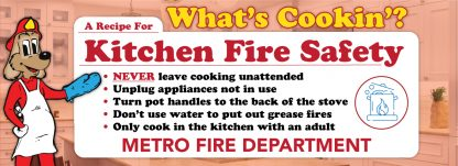 """Red's """"What's Cookin'? A Recipe For Kitchen Fire Safety"""" Banner"""