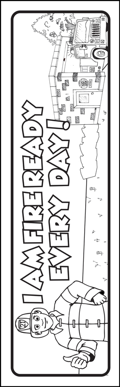 "Ace's ""Be Fire Ready Every Day!"" Color Me Bookmark"