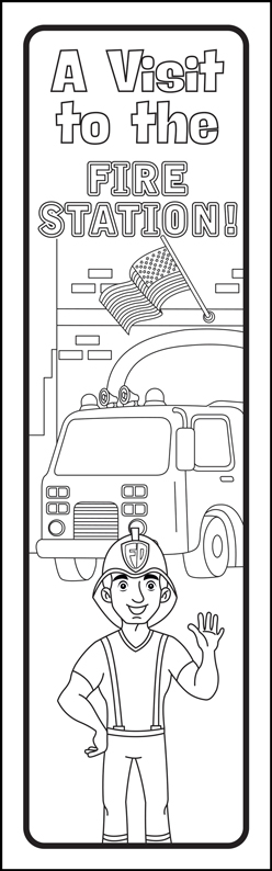 """A Visit to the Fire Station!"" Color Me Bookmark"