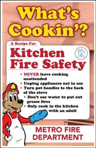 "Red's ""What's Cookin'? A Recipe For Kitchen Fire Safety"" Poster"