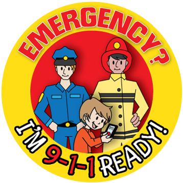 """Emergency? I'm 9-1-1 Ready!"" Sticker"