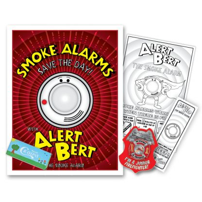 "Alert Bert's ""Smoke Alarms Save the Day"" KidPak"