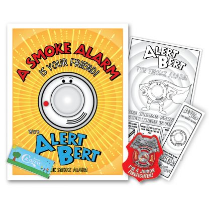"Alert Bert's ""A Smoke Alarm Is Your Friend!"" KidPak"