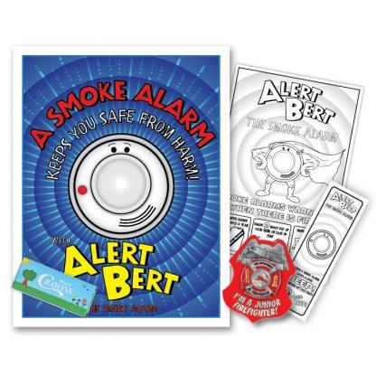 "Alert Bert's ""A Smoke Alarm Keeps You Safe From Harm"" KidPak"