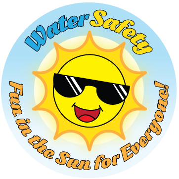 """Water Safety: Fun In The Sun For Everyone!"" Sticker"