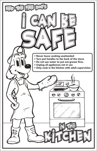 "Red's ""I Can Be Safe in the Kitchen!"" Color Me Poster"