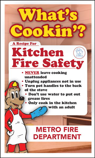 """Red's """"What's Cookin'? A Recipe For Kitchen Fire Safety"""" Magnet"""