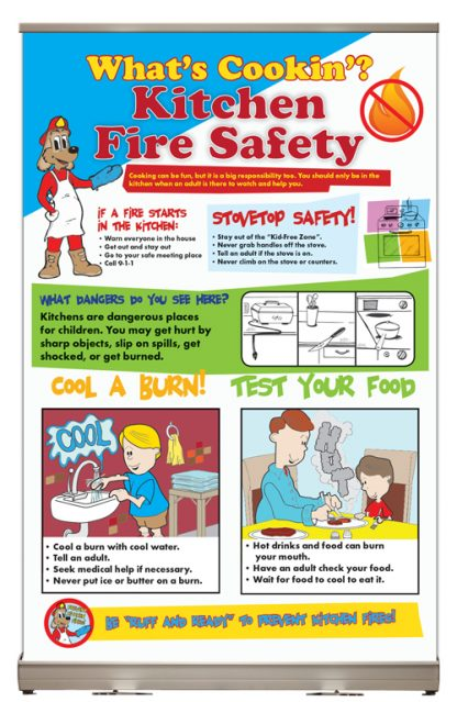 """Red's """"What's Cookin'? Kitchen Fire Safety"""" Tabletop Display"""