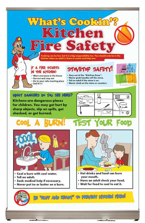 """Yes — Red's """"What's Cookin'? Kitchen Fire Safety"""" Tabletop Display"""