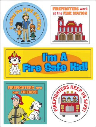 """I Visited the Fire Station"" Sticker Sheet"