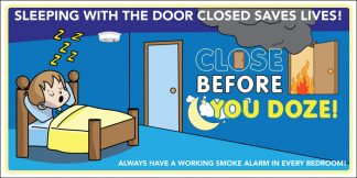 """Close Before You Doze"" Banner"