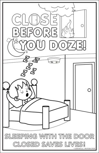 """Close Before You Doze"" Color Me Poster"