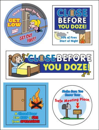 """Close Before You Doze"" Sticker Sheet"